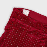 Red Glitter Shorts Set