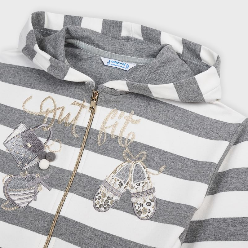 Embroidered Striped Tracksuit