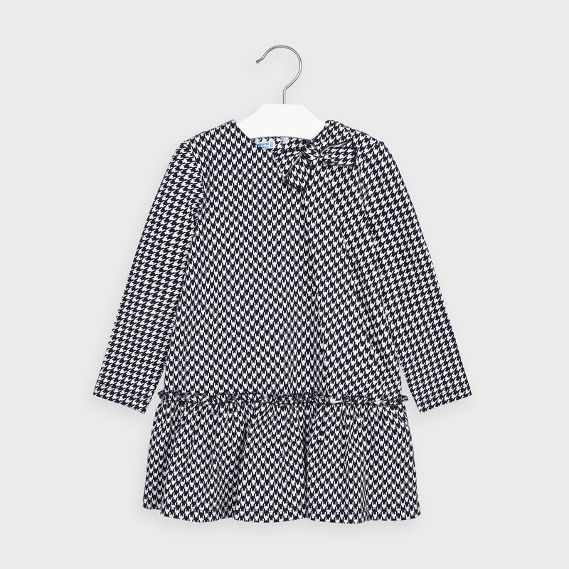 Dogtooth Check Dress