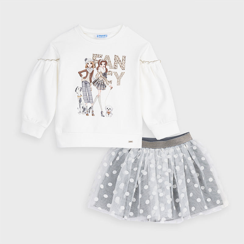 Fancy Tulle Skirt Set