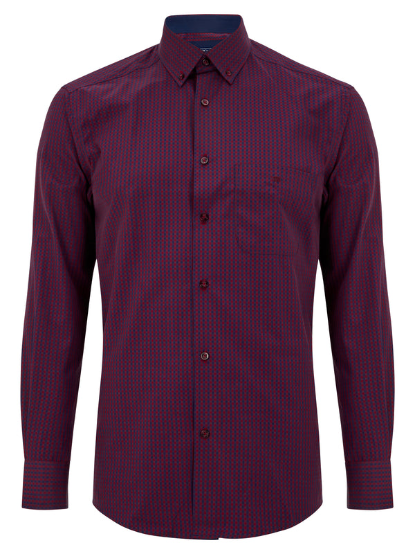 Geneva/Ivano - Cotton Polyester Red Shirt