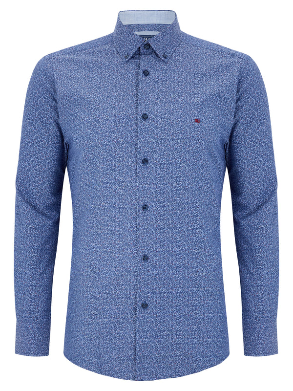Geneva/Ivano - Cotton Polyester Navy Shirt