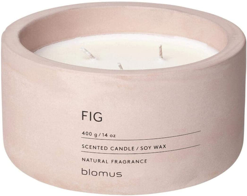 SCENTED CANDLE IN CONCRETE CONTAINER - ROSE DUST