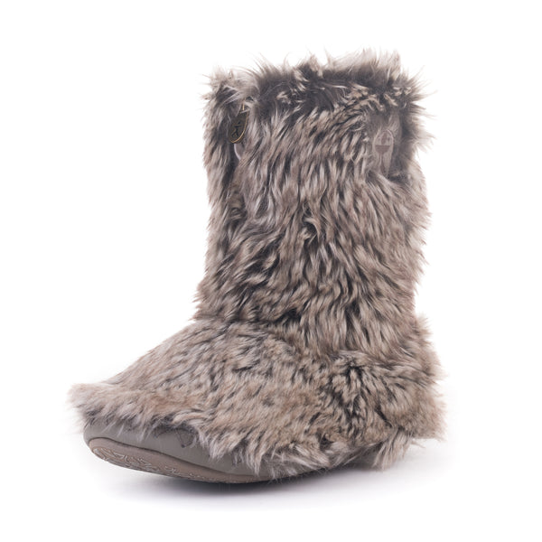 Cole Short Luxury Faux Fur Boots - Coyote