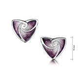 Turning Tides Stud Earrings in Amethyst Enamel