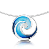 Pentland Enamelled Necklace in Sterling Silver