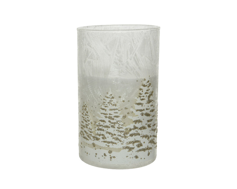 Wax Glass Candle Holders - Tree Design