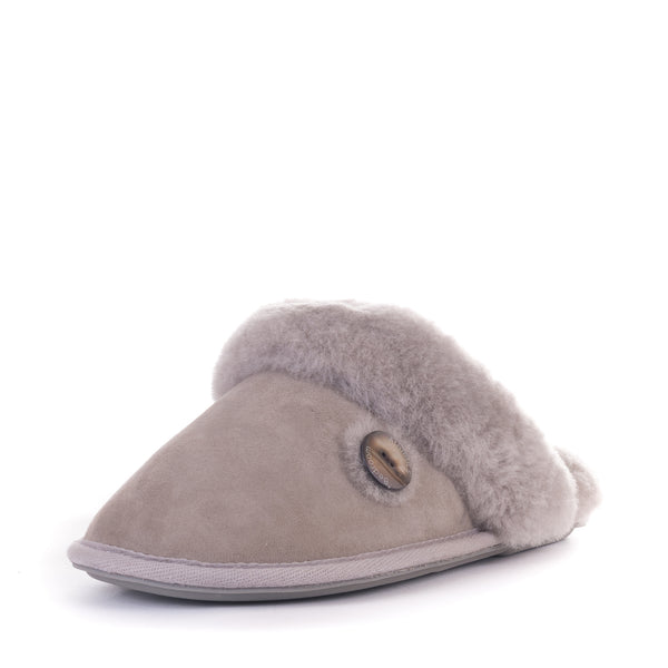 Molly - Double Faced Sheepskin Mule - Pale Grey