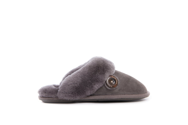 Molly - Double Faced Sheepskin Mule - Slate Grey