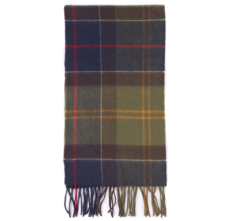 Cashmere Scarf - Navy/Olive