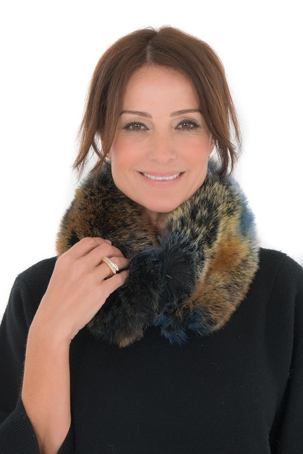 Ventura Mulit-Coloured Faux Fur Collar
