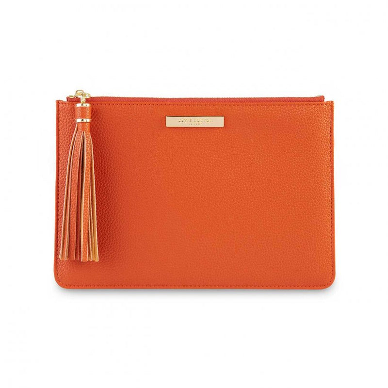 TASSEL POUCH I BURNT ORANGE
