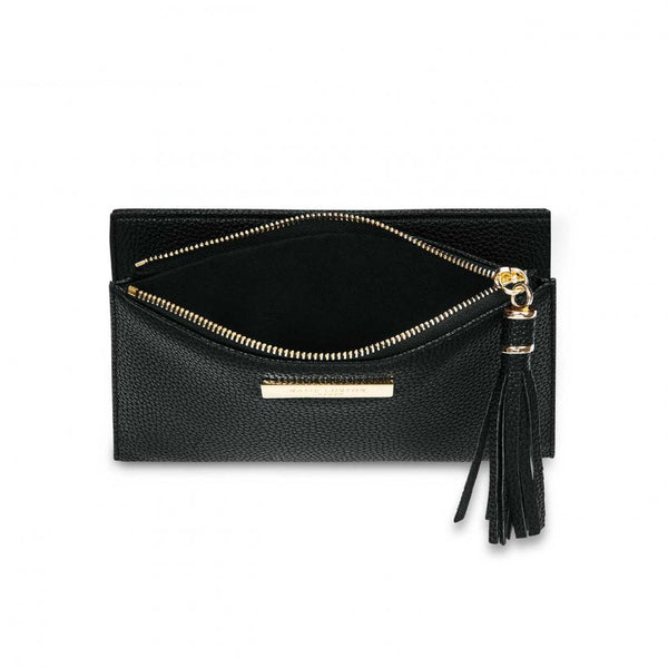 TASSEL FOLD OUT PURSE I BLACK