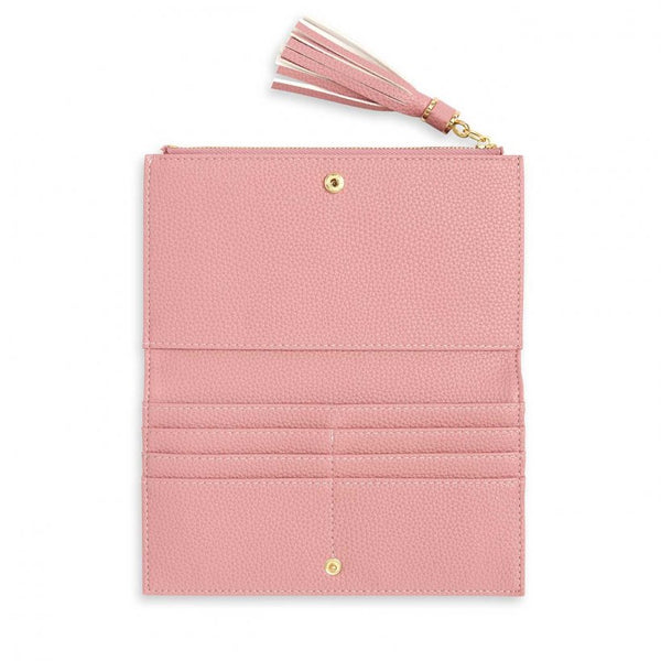 TASSEL FOLD OUT PURSE I PINK
