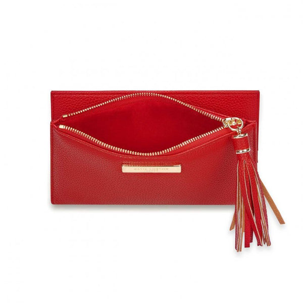 TASSEL FOLD OUT PURSE I RED