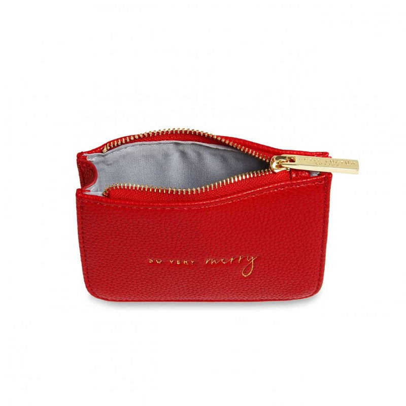 STYLISH STRUCTURED COIN PURSE | SO VERY MERRY | RED