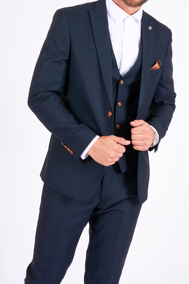 Max 3-Piece Navy Suit