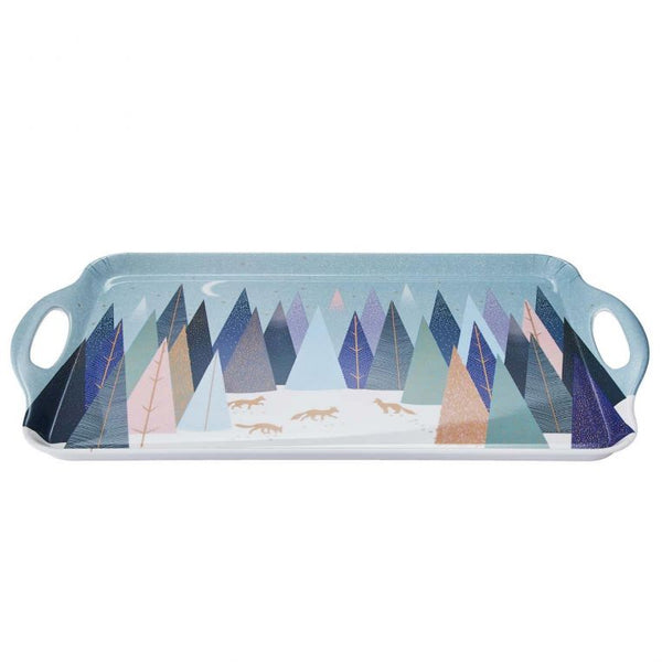 Sara Miller London Portmeirion Frosted pines Large handled tray