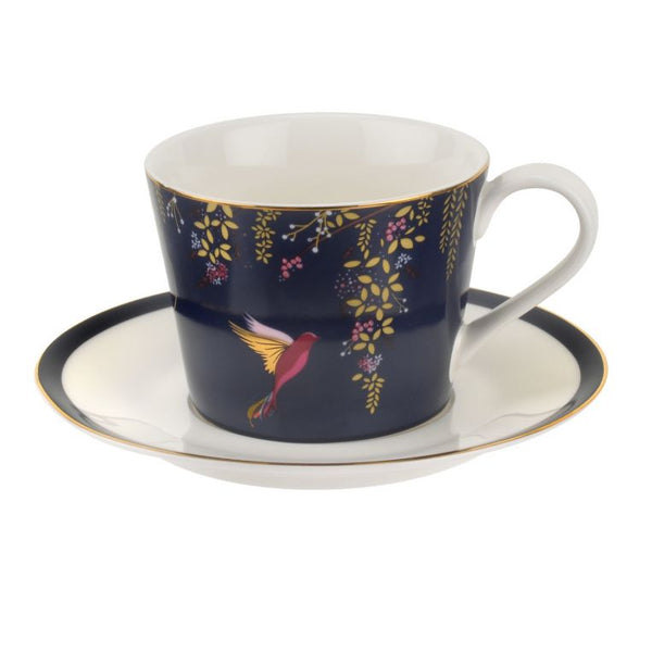 Sara Miller London Portmeirion Chelsea Tea Cup & Saucer - Navy