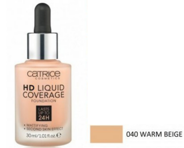 HD Liquid Coverage Foundation 40 Warm Beige 30ml