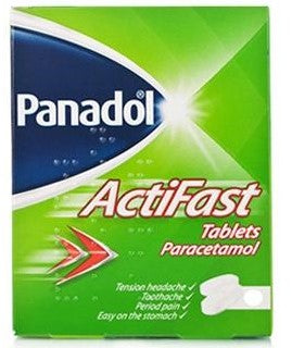 Actifast 500mg Paracetamol 12 Soluble Tablets
