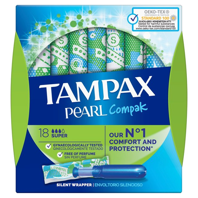 Load image into Gallery viewer, Tampax Pearl Compak 18 Super Applicator Tampons