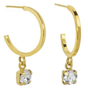 Load image into Gallery viewer, Dakota Sterling Silver 18k Gold plated Crystal Earrings