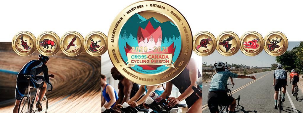 Cross Canada Virtual Cycle Mission Medallions