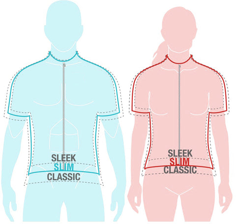 Slim Fit Cycling Jersey Men's and Women's