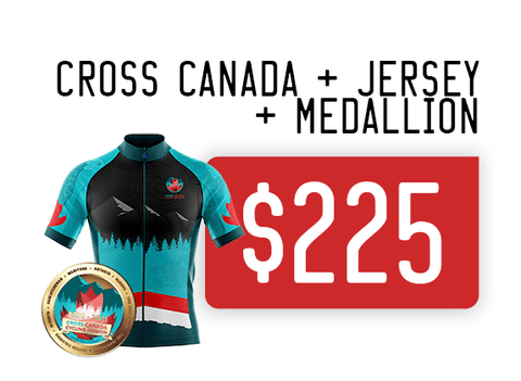 Virtual Cycle Mission exclusive Zone3sports Athlete Cross Canada Mission and Jersey price