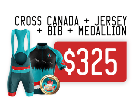 Virtual Cycle Mission exclusive Zone3sports Athlete Cross Canada Mission and Cycling Kit price