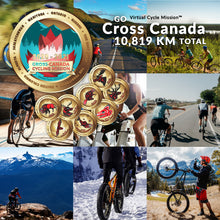 Load image into Gallery viewer, Image of cyclist with an event medallion