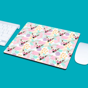 Face Pattern Mouse Pad