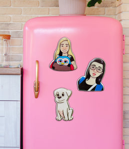 Illustrated Fridge Magnet