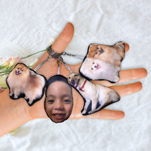 Load image into Gallery viewer, Face Pillow Keychain
