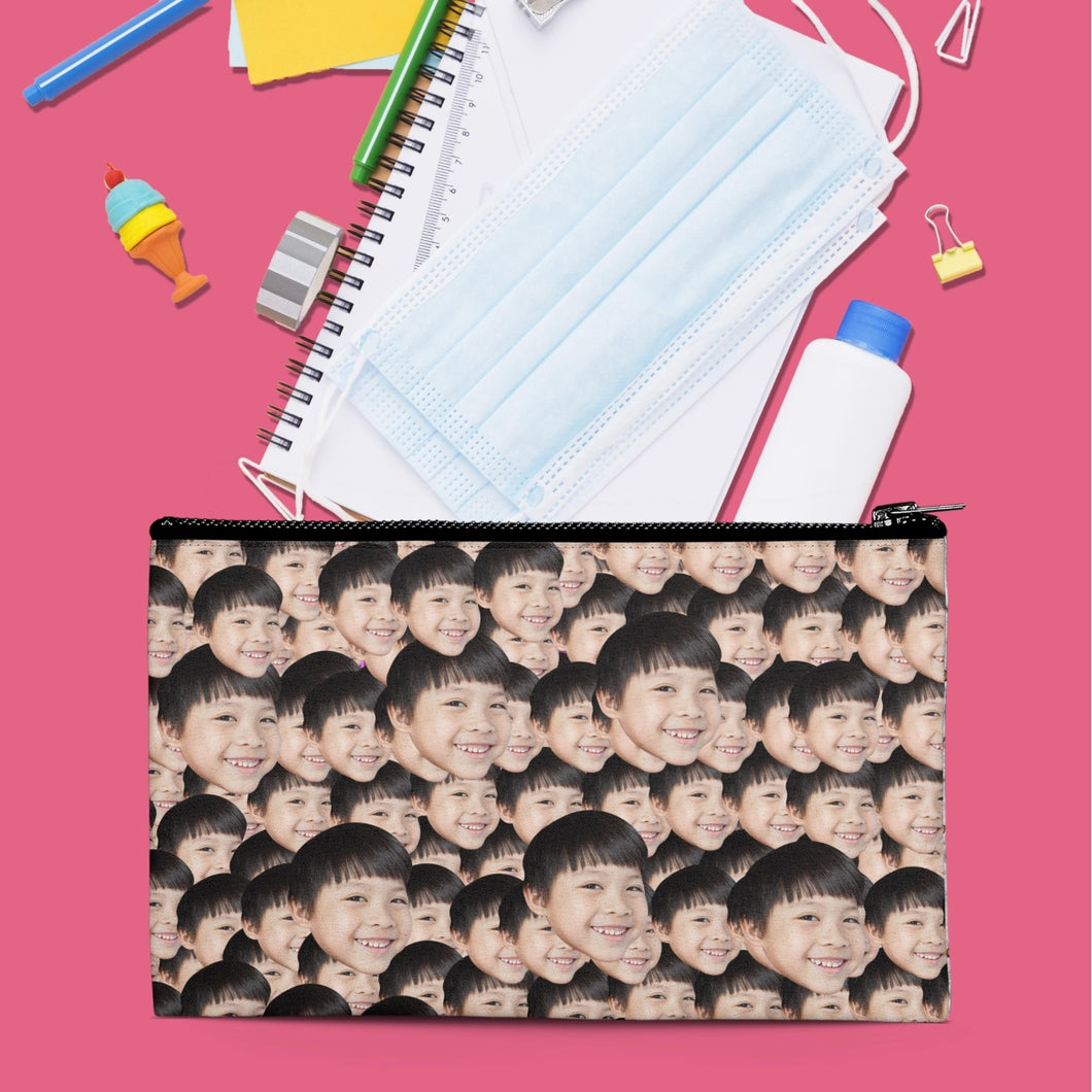 Crazy Heads Zipper Pouch