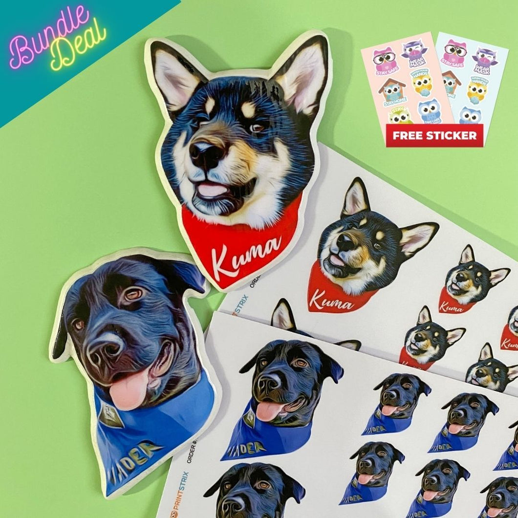 Ref Magnet + Sticker Bundle