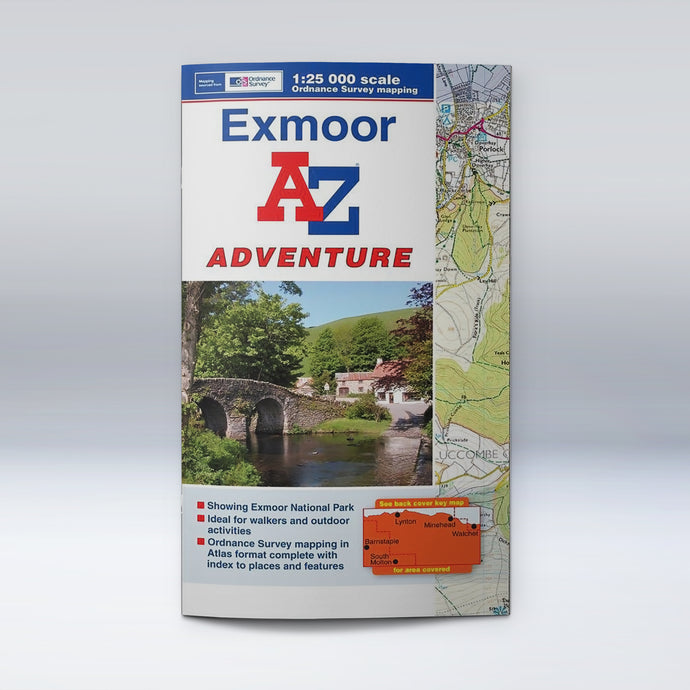 A-Z Adventure Atlas - Exmoor, front cover