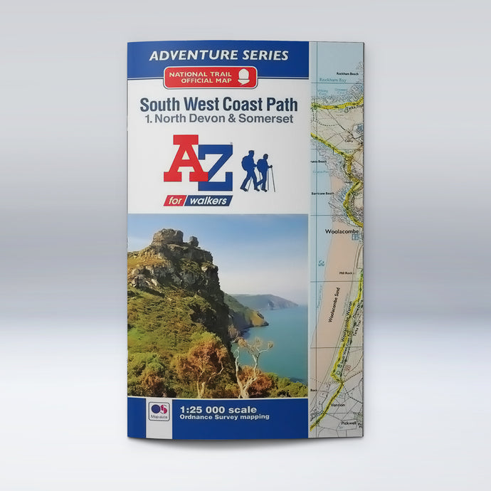 A-Z Adventure Atlas - South West Coast Path North Devon & Somerset, front cover