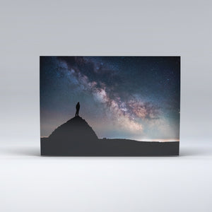 Post Card of Dunkery Beacon, at night showing Exmoor's famous Dark sky.