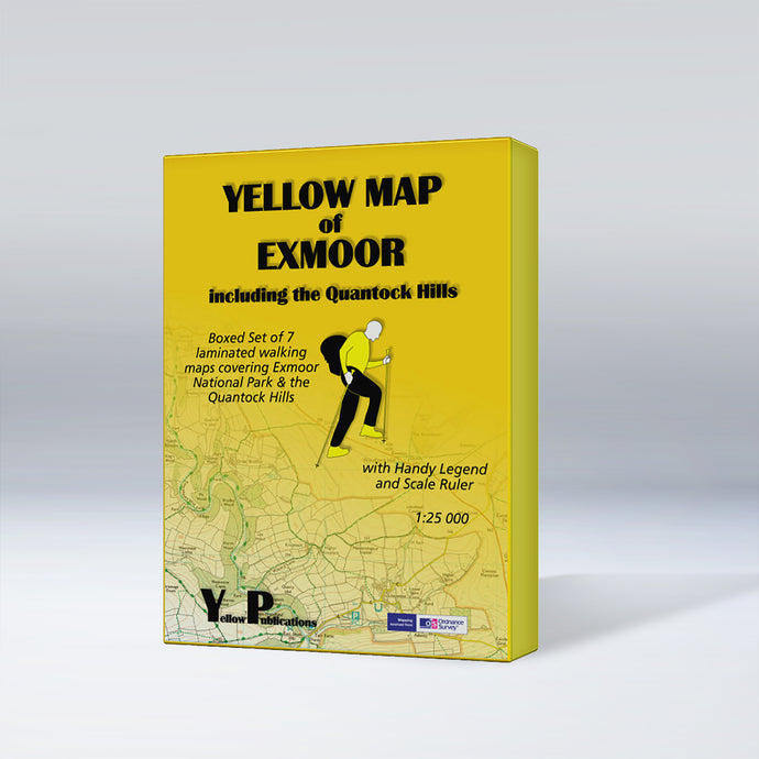 Yellow Maps Boxed Sets series of Exmoor, box cover
