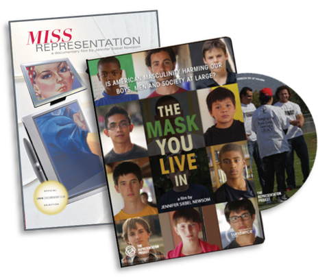 Bundle: Miss Representation/The Mask You Live In Whole School Licenses—DVD, PDF Curriculum, & PPR