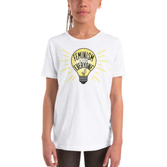 Feminism Is For Everyone Youth Short Sleeve T-Shirt