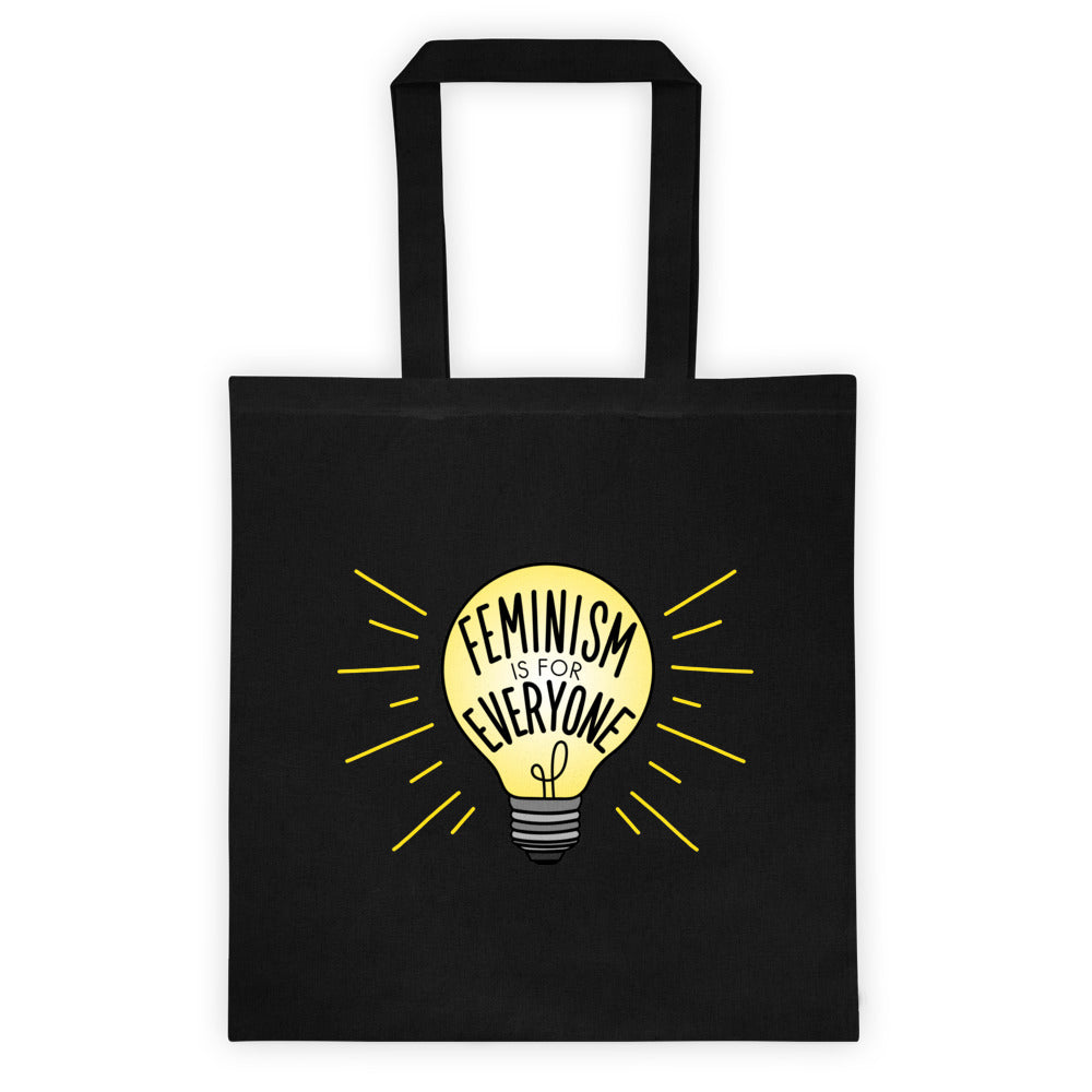 Feminism Is For Everyone Black Tote bag