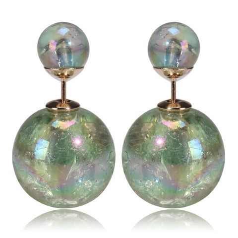 Mise en Gum Tee Style Tribal Earrings  - Galaxy Light Green
