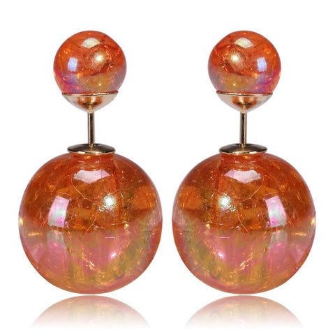 Mise en Gum Tee Style Tribal Earrings  - Galaxy Orange