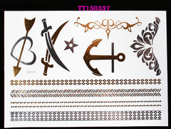 BEADY Temporary Tattoo Tribal Jewelry Set 1