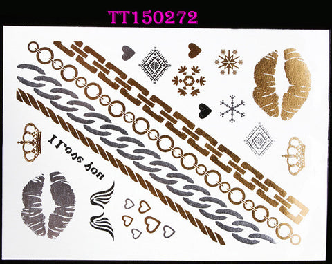 BEADY Temporary Tattoo Tribal Jewelry Set 3