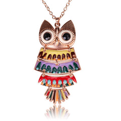 Owl Collection Multicolor Owl Necklace