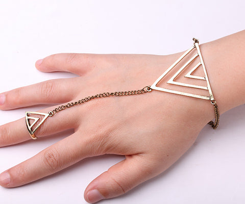 Beautiful Bracelet and Ring Bronze Connection Combo